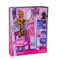 """Лялька """"Дизайнер одягу"""" в леопардовому (коробка) 81016А р.26,5*5,5*33 см"""