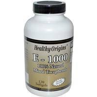 Витамин Е - 1000, Healthy Origins, 120 гелевых капсул