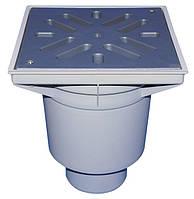 HL606LW/5 Дворовый трап серии Perfekt DN160 вертикальный 244х244мм/226х226мм ПП с водяным затвором.