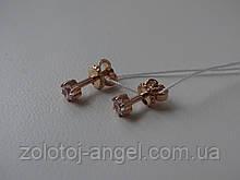 Золотые серьги-гвоздики (пуссеты)
