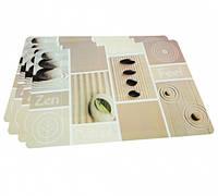 Сервировочные коврики на обеденный стол Fissman (Комплект из 4-х  шт., пластик)