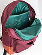 Рюкзак молодежный, городской 12 л. Gin Bronx, бордовый, фото 7