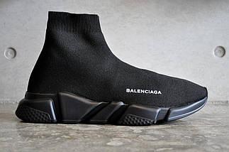 Женские и мужские кроссовки Balenciaga Speed Trainer Sock Black, фото 2