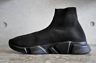 Женские и мужские кроссовки в стиле Balenciaga Speed Trainer Sock Black, фото 3