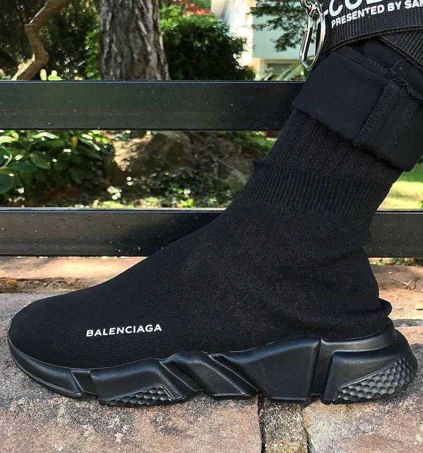 Женские и мужские кроссовки Balenciaga Speed Trainer Sock Black
