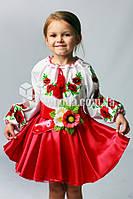 Вышиванка детская с цветочным узором Мак Ларисочка