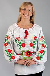 Вышиванка женская Мак Колосок размер 56