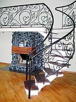 Кованые перила – изящное дополнение лестницы и балкона