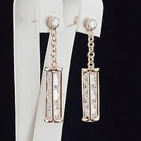 Роскошные серьги с кристаллами Swarovski, покрытые слоями золота 0723
