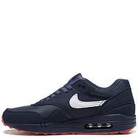 Мужские синие кроссовки из замши 110867