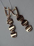 Эксклюзивные золотые серьги, фото 2