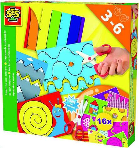 Набор для творчества - УЧУСЬ ВЫРЕЗАТЬ (16 картинок для игры, безопасные детские ножницы) 14809S, фото 2