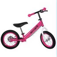 Детский беговел PROFI KIDS 12 д  с надувными  колесами M 3440AB-7 розовый ***