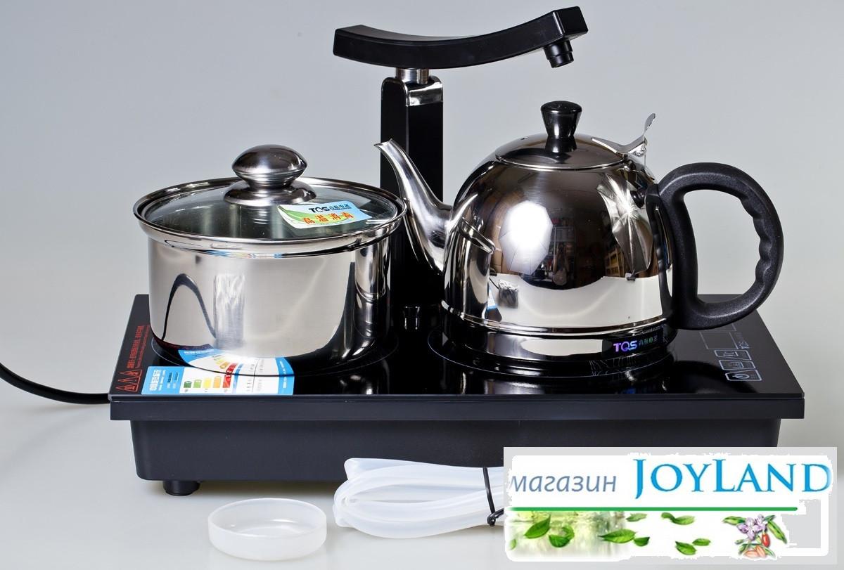 Индукционная плита с посудой (Индукционная плита, чайник, кастрюля)