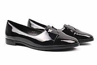 Туфли женские Belorddini натуральная лаковая кожа, цвет черный (каблук, стильные, комфорт), фото 1