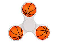 Спінер basketball  Білий з оранжевим