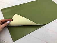 Двухсторонняя калька бежево-зеленая
