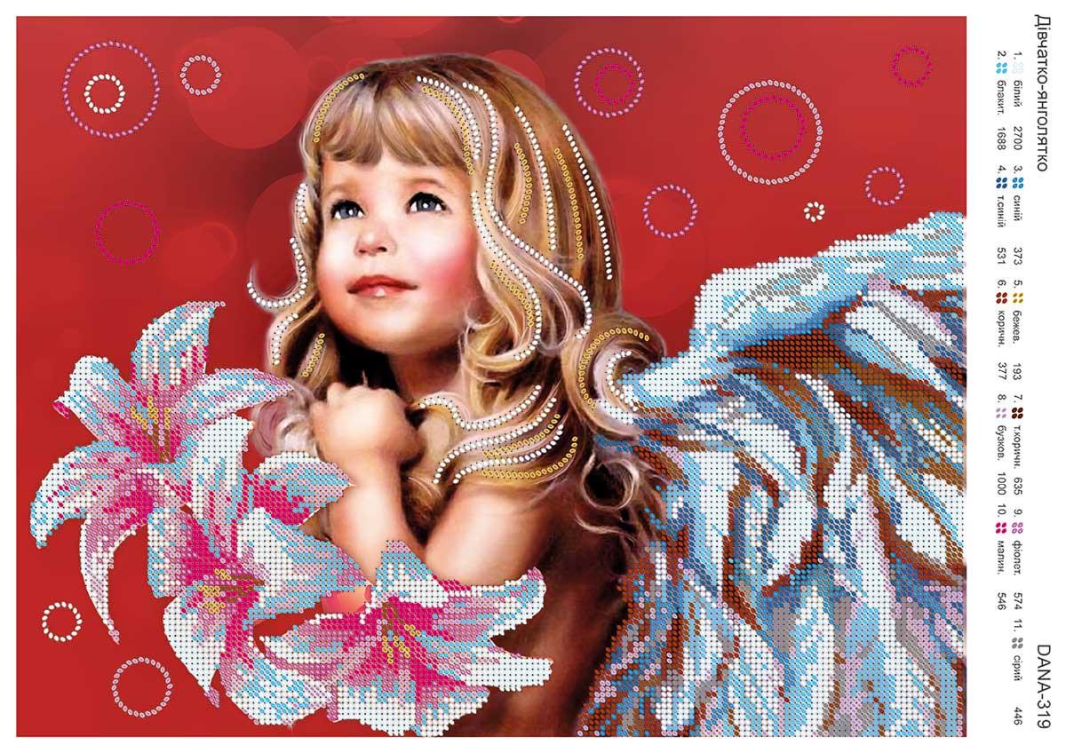 Дівчинка янголятко
