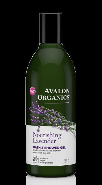 Гель для ванны и душа с глицерином «Лаванда» Avalon Organics (США)