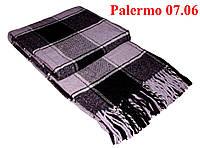 Плед  полуторный 140х200, тм. VLADI, Палермо «Palermo» 07.06 (фио-бел-сер-чер)