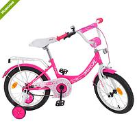 Велосипед двухколёсный детский 14 дюймов Profi Princess Y1413 малиновый***