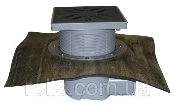 HL615H Дворовый трап серии Perfekt DN110 гор. с битумом,  чугун с морозоустойчивой запахозапирающей заслонко