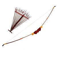 Лук декоративный с стрелами длина 120см