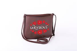 Маленькая сумка с вышивкой флай «Ukraine»