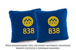 Набор подушек синий флок c лого 838 такси
