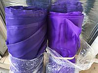 Тюль шифон  однотонный  фиалковый, высота 2.8м