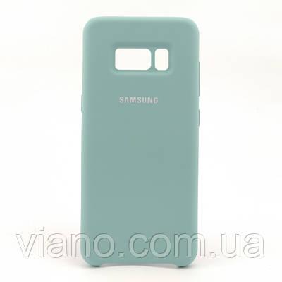 Силиконовый чехол Samsung galaxy S8 (Бирюзовый) Silicone cover