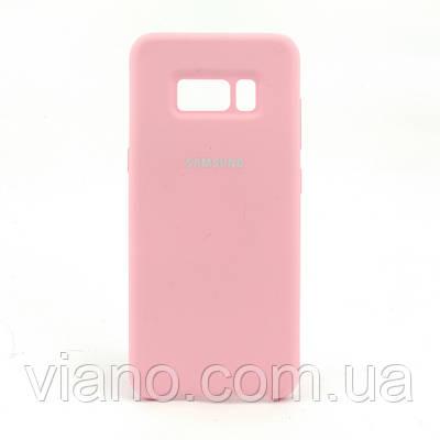 Силиконовый чехол Samsung galaxy S8 (Розовый) Silicone cover
