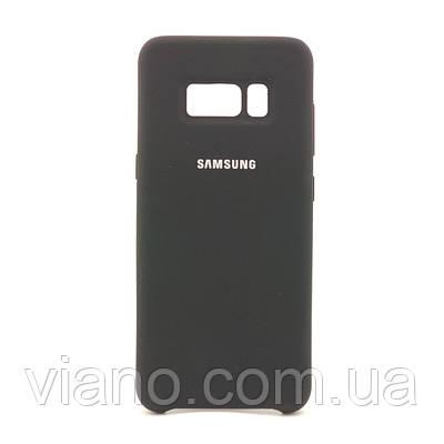Силиконовый чехол Samsung galaxy S8 (Чёрный) Silicone cover