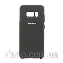Силиконовый чехол Samsung galaxy S8 Plus (Чёрный) Silicone cover