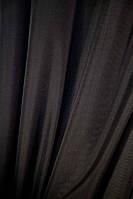 Тюль шифон  однотонный  черный , высота 2.8м