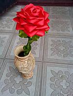 Роза из  атласной ленты ручной работы