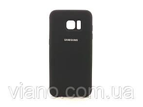 Силиконовый чехол Samsung galaxy S7 Edge (Чёрный) Silicone cover