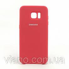 Силиконовый чехол Samsung galaxy S7 Edge (Красный) Silicone cover