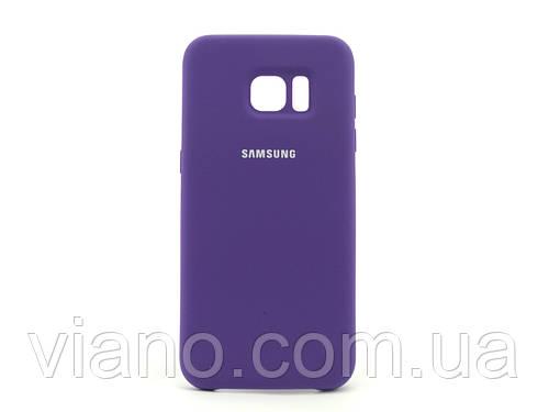 Силиконовый чехол Samsung galaxy S7 Edge (Фиолетовый) Silicone cover