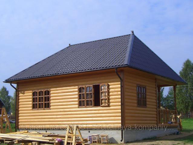Дачный дом с верандой 48 м.кв. Метал-ца, блок хаус