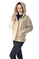 Женская комбинированная бежевая куртка Max Mara