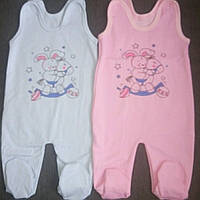 Ползунки на пуговицах для новорожденных с начесом