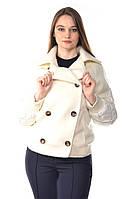 Женская белая двубортная куртка Max Mara