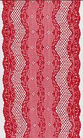 Кружево стрейч красное 17см 1186-15