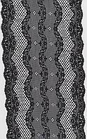 Кружево стрей чёрное 17см 1186-15,