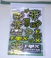 Наклейки Monster Energy (цена за 1лист 17х26см)