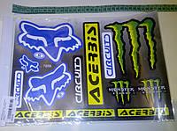 Наклейки Monster Energy (цена за 1лист 23х31см)