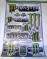 Наклейки Monster Energy (цена за 1лист 30х45см)
