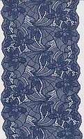 Кружево стрейч гр,синий 17см 1225-16