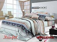 Двуспальный набор постельного белья 180*220 из Сатина №196 KRISPOL™